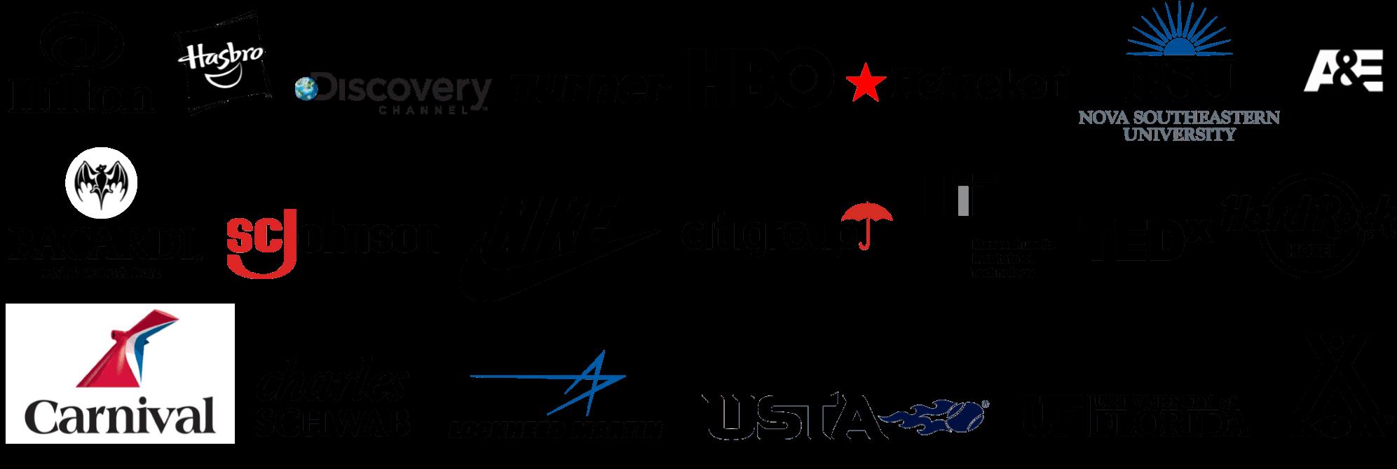 Bruce's Client's Logos